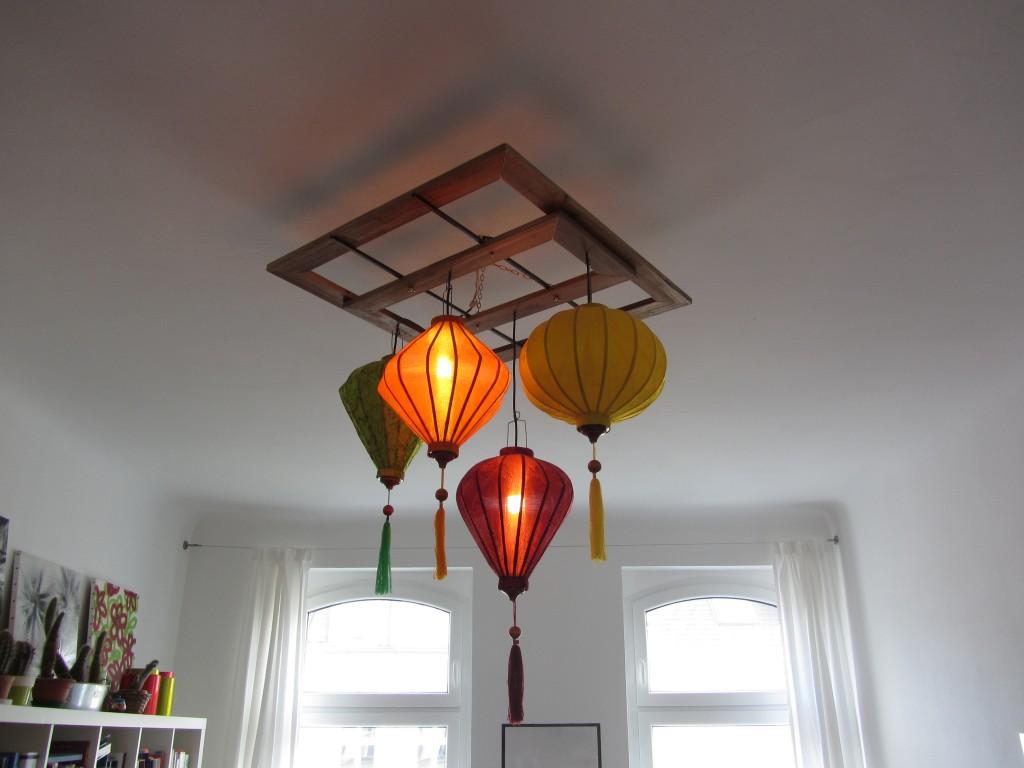 Bunte Lampion Deckenlampen-Konstruktion