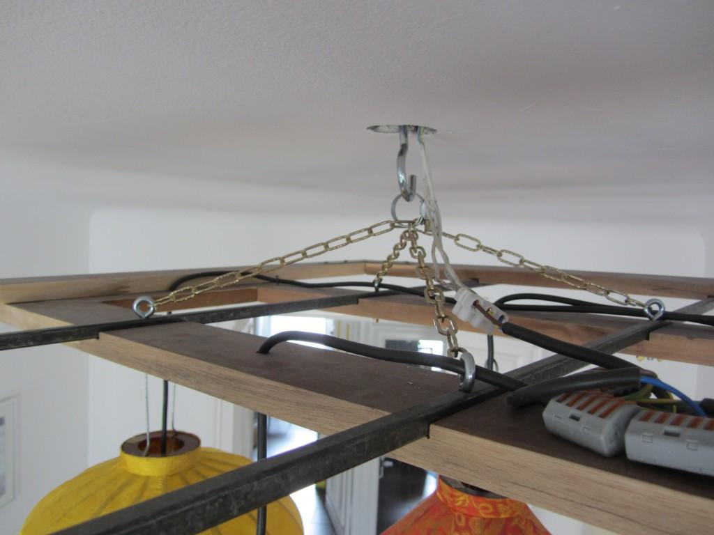 Bunte Lampion-Deckenlampen Konstruktion