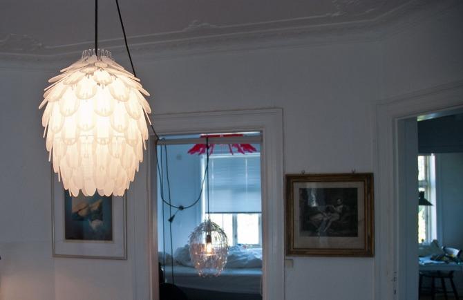 Pinecone Mini Design Deckenlampe in transluszentem Weiß