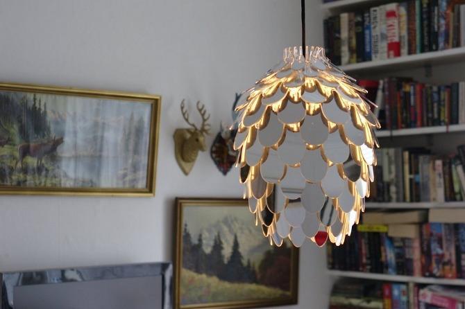 Pinecone Mini Design Deckenlampe verspiegelt