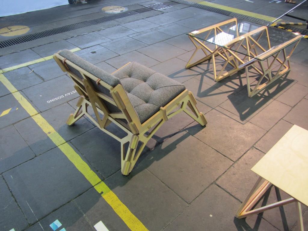 Gustav Düsing Chair 23d in Steckbauweise Massivholz