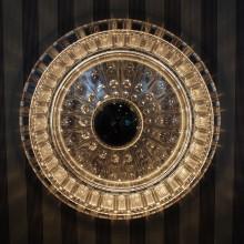 Stillvolle Lichtquelle aus Geschirr-Plaste