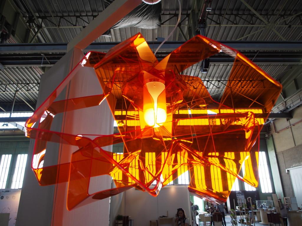 Decken-Leuchte aus Acrylglas handmade in berlin